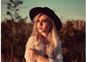 女人,模特,妇女,女孩,白皙的,帽子,口红,深度,关于,领域,壁纸,