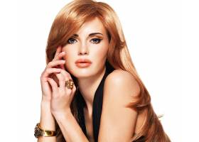 女人,模特,妇女,女孩,红发的人,长的,头发,蓝色,眼睛,口红,壁纸,