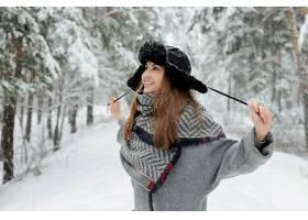 女人,模特,妇女,微笑,冬天的,帽子,雪,女孩,红发的人,壁纸,图片