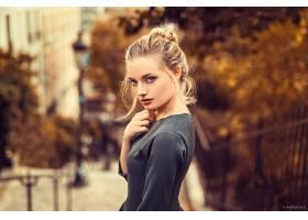 女人,模特,白皙的,女孩,妇女,深度,关于,领域,蓝色,眼睛,壁纸,图片