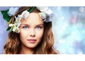 女人,脸,女孩,花冠,妇女,模特,蓝色,眼睛,红发的人,壁纸,图片
