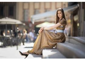 女人,模特,女孩,楼梯,深度,关于,领域,壁纸,