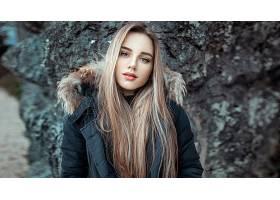 女人,模特,白皙的,妇女,女孩,长的,头发,蓝色,眼睛,壁纸,图片