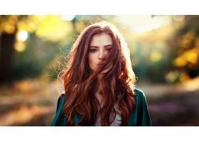 女人,模特,女孩,红发的人,妇女,深度,关于,领域,棕色,眼睛,壁纸,