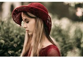 女人,情绪,模特,帽子,白皙的,妇女,女孩,深度,关于,领域,壁纸,