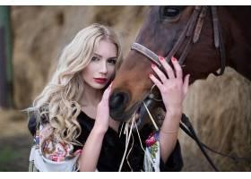 女人,模特,妇女,女孩,马,口红,白皙的,长的,头发,棕色,眼睛,壁纸,图片