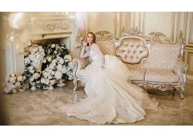 女人,新娘,穿衣,沙发,妇女,女孩,白色,穿衣,婚礼,穿衣,花,白色,花图片
