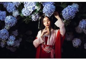 女人,亚洲的,情绪,女孩,妇女,模特,绣球花,花,黑色,头发,壁纸,