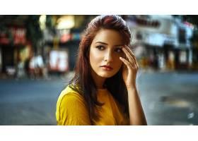 女人,模特,女孩,妇女,深度,关于,领域,棕色,眼睛,壁纸,