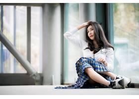 女人,亚洲的,女孩,妇女,模特,黑色,头发,壁纸,(1)