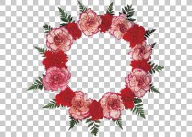 圣诞装饰卡通,花束,粉红色家庭,插花,装饰,圣诞装饰品,圣诞装饰,
