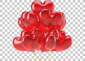 生日气球卡通,花束,切花,花瓣,花园玫瑰,花,礼物,情人节,生日,红图片