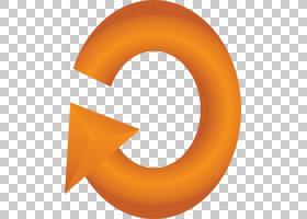 圆形背景箭头,线路,黄色,符号,文本,角度,弧形,曲线,箭头,圆,橙色