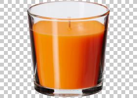 红灯,品脱玻璃,无焰蜡烛,杯子,橙汁,老式玻璃,喝酒,橙汁饮料,照明