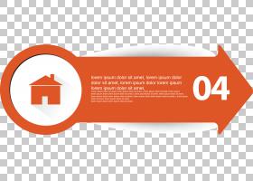 标签箭头,线路,徽标,文本,面积,标签,橙色,箭头,