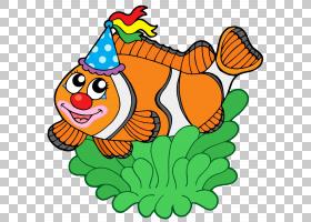 橙花,喙,食物,花,橙色小丑鱼,鱼,小丑鱼,海葵,绘图,卡通,小丑鱼,图片