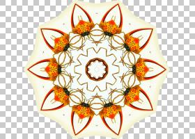 橙花,圆,线路,橙色,花瓣,对称性,花,母爱,礼物,ViewMaster,卡通,图片