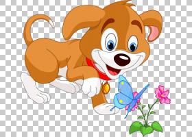 橙花,橙色,花,尾巴,口吻,幽默,动画,宠物,可爱,卡通,小狗,狗,图片