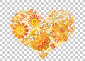 爱的背景心,花瓣,橙色,黄色,计算机监视器,HVGA,花,移动电话,心,
