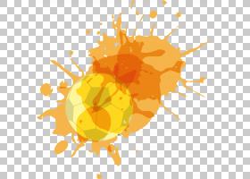 水彩花卉背景,昆虫,食物,花瓣,植物,水果,花,橙色,黄色,世界杯,卡图片