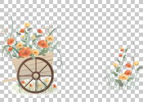 花卉婚礼邀请函背景,花卉,花束,橙色,切花,花卉设计,花,插花,花瓶
