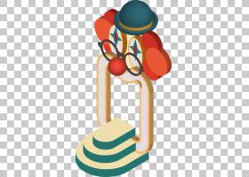 帽子卡通,字体,线路,头盔,帽子,橙色,免费,绘图,小丑,马戏团,图片