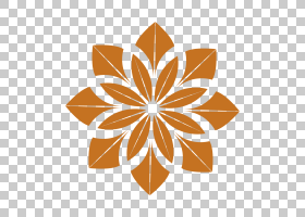 瑜伽卡通,花瓣,线路,对称性,叶,花,橙色,瑜伽,禅宗,绘图,