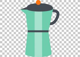 鸡肉卡通,饮具,咖啡杯,绿色,餐具,水壶,杯子,颈部,饭菜,构造者,梅