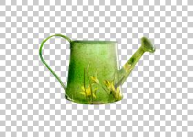 花园里,饮具,服务软件,浇水罐,马克杯,投手,杯子,草,草族,餐具,厨