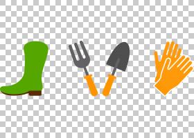 花园里,线路,餐具,餐具,勺子,叉子,厨房花园,花园里,花,铲子,手套