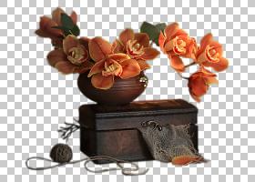 秋园,人造花,橙色,拍摄,秋季,党,花束,Ping,花园玫瑰,花瓶,博客,