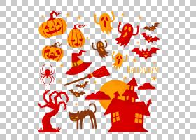万圣节贺卡,线路,橙色,文本,面积,平面设计,鬼魂,假期,海报,南瓜,