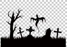 万圣节贺卡,黑白相间,黑色,徽标,剪影,草,聚会,电子贺卡,海报,化