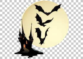 万圣节鬼屋,剪影,蝙蝠,海报,鬼魂,鬼屋,万圣节前夕,