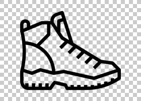 露营卡通,步行鞋,面积,体育器材,线路,黑白,黑色,白色,鞋类,背包,