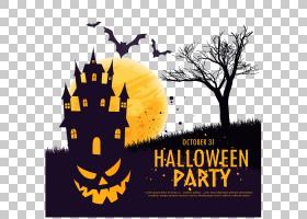 万圣节派对字体,字体,徽标,黄色,文本,聚会,鬼魂,海报,闹鬼的景点