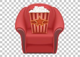 爆米花卡通,家具,红色,电影,绘图,Fauteuil,座椅,电影院,爆米花,
