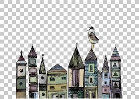 建筑卡通,尖顶,大楼,尖顶,搜索引擎,中世纪建筑,动画片,城市高中,