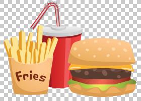 垃圾食品卡通,风味,三明治,杯赛,马铃薯,健康,食物能源,绘图,快餐