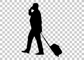 黑线背景,黑白,男性,线路,黑色,剪影,站立,业务集群,手提箱,背包,