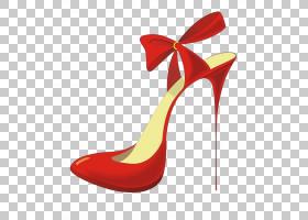 女性卡通,红色,高跟鞋,线路,户外鞋,马诺洛・布拉尼克(Manolo Bla