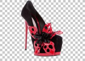 拖鞋户外鞋,高跟鞋,红色,户外鞋,克里斯蒂安・鲁布托,皮带,时尚,