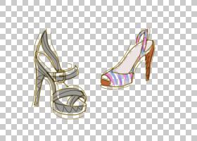 女性卡通,鞋子,高跟鞋,鞋类,户外鞋,凉鞋,女人,化妆,美丽,化妆品,