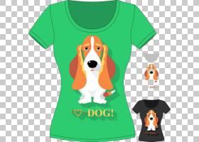 狐狸卡通,橙色,小猎犬,T恤,顶部,早恋,袖子,鼻部,狗,狐梗,平面设