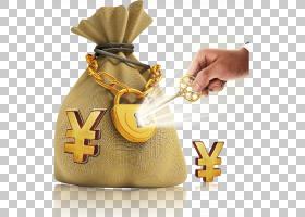 钱袋,黄色,银行,商业,Fukubukuro,符号,个人理财,金融,钱,包,