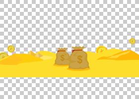 金币,黄色,天空,文本,计算机,卡通,个人理财,金币,包,