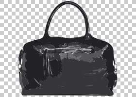 黑线背景,黑白,白色,肩包,黑色,行李袋,手提行李,皮革,徽标,拉链