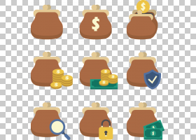 金钱卡通,食物,钱,手提包,硬币钱包,平面设计,钱包,