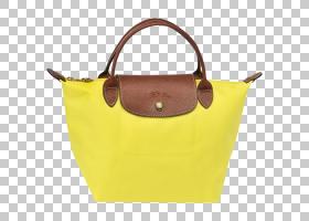 龙尚手提包,行李袋,皮革,棕色,肩包,黄色,页面,钱包配件,手提袋,