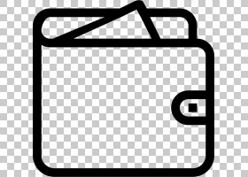 钱包图标,符号,矩形,面积,线路,黑白,文本,黑色,计算机软件,拉链,